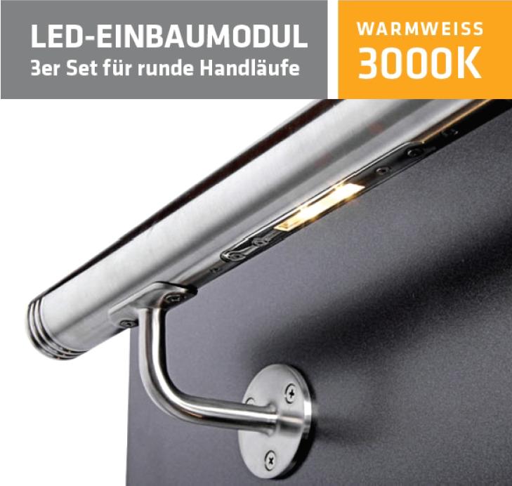 LED-Einbaumodul 3000K Warmweiß