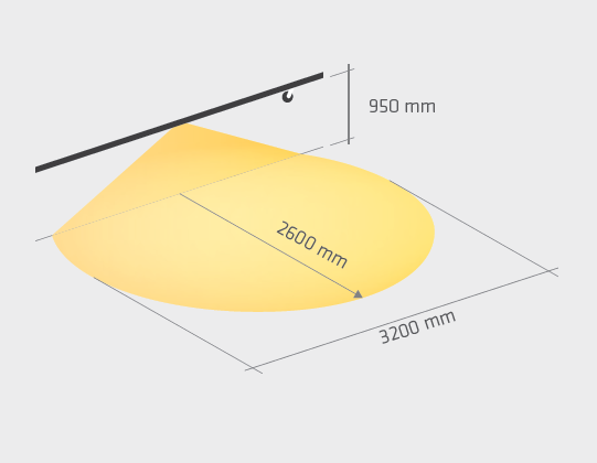 LED Einbaumodul 3000 Maße Lichtkegel